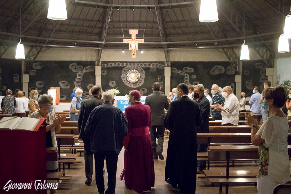 Arrivo in chiesa Sant'Adele
